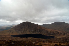 MountainViews.ie Picture about mountain Knocklomena in area Dunkerron Mountains, Ireland