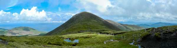 MountainViews.ie Picture about mountain Drung Hill in area Glenbeigh Horseshoe, Ireland