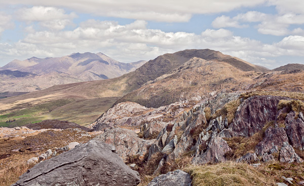 MountainViews.ie Picture about mountain Beann Far SW Top in area Dunkerron Mountains, Ireland
