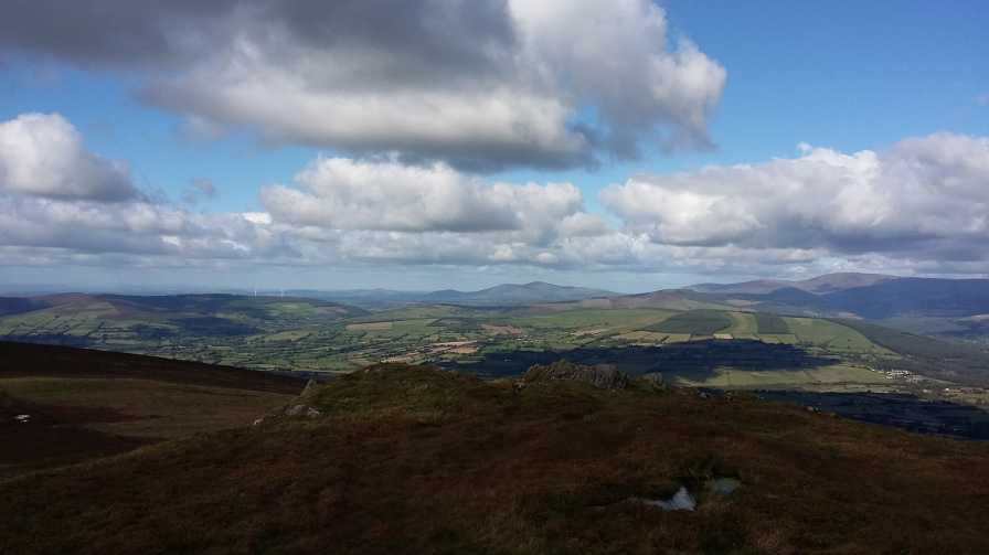 MountainViews.ie Picture about mountain Croghan Kinsella (<i>Cruachán</i>) in area Wicklow, Ireland