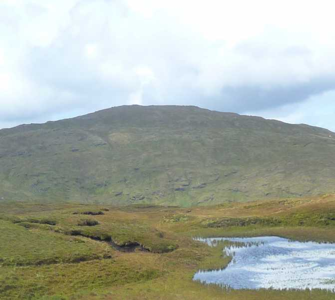 MountainViews.ie Picture about mountain Cruach an Airgid in area Bluestack Mountains, Ireland