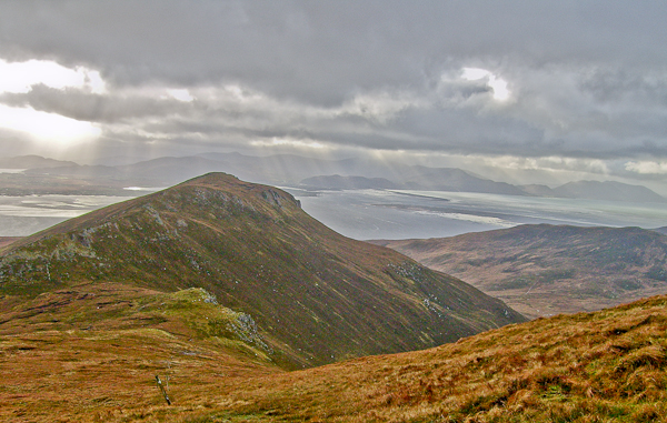 MountainViews.ie Picture about mountain Caherbla in area Slieve Mish, Ireland