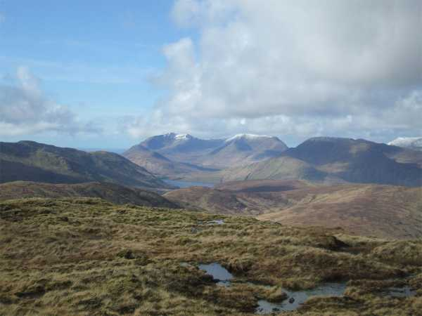 MountainViews.ie Picture about mountain Bunnacunneen in area Partry/Joyce Country, Ireland