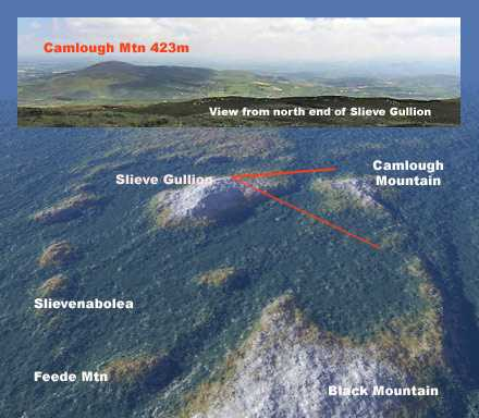 MountainViews.ie Picture about mountain Slieve Gullion in area Cooley/Gullion, Ireland