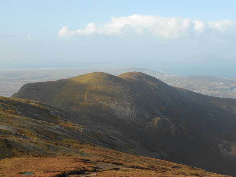 MountainViews.ie Picture about mountain Ben Goram (<i>An Bhinn Ghorm</i>) in area Croagh Patrick, Ireland