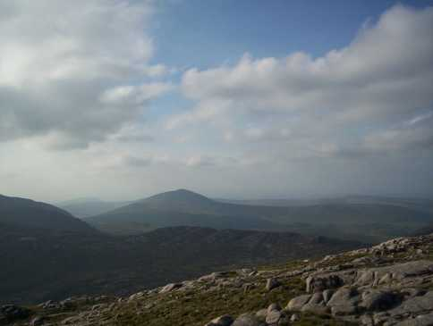 MountainViews.ie Picture about mountain Croaghanirwore in area Bluestack Mountains, Ireland