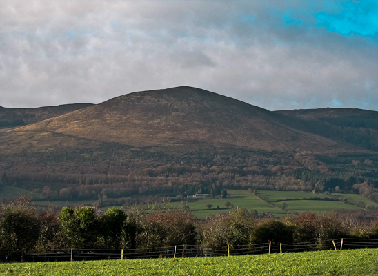 MountainViews.ie Picture about mountain Seefin Mountain in area Ballyhoura Mountains, Ireland