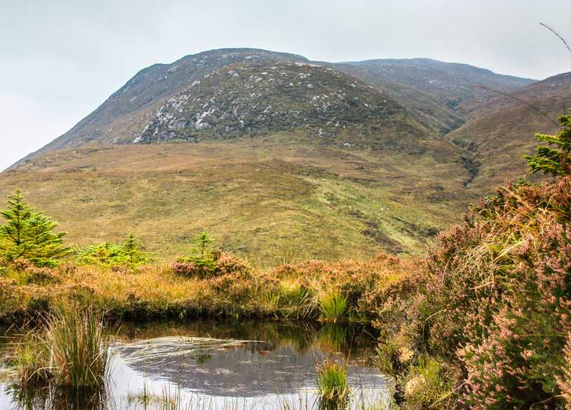 MountainViews.ie Picture about mountain Croaghconnellagh (<i>Cruach Chonallach</i>) in area Bluestack Mountains, Ireland