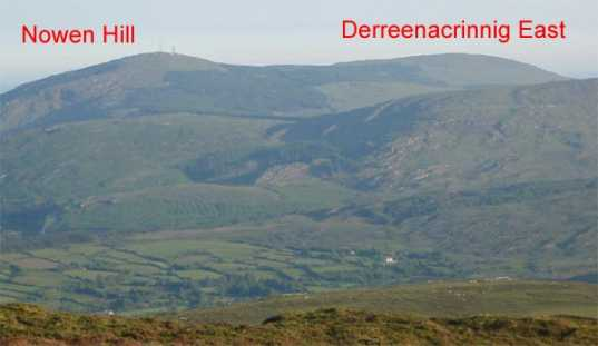 MountainViews.ie Picture about mountain Nowen Hill SW Top in area Shehy/Knockboy, Ireland