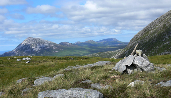 MountainViews.ie Picture about mountain Crockfadda NE Top (<i>An Cnoc Fada (mullach thoir thuaidh)</i>) in area Donegal NW, Ireland