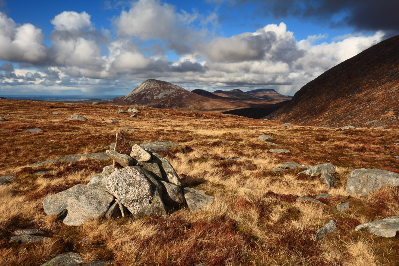 MountainViews.ie Picture about mountain Crockfadda North-East Top in area Donegal NW, Ireland