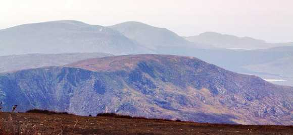 MountainViews.ie Picture about mountain Claggan Mountain NE Top in area North Mayo, Ireland