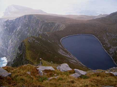 MountainViews.ie Picture about mountain Croaghaun in area Achill/Corraun, County Mayo, Ireland