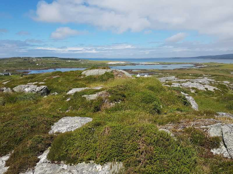 MountainViews.ie Picture about mountain Derrygimlagh West in area Galway Coastal Hill, Ireland