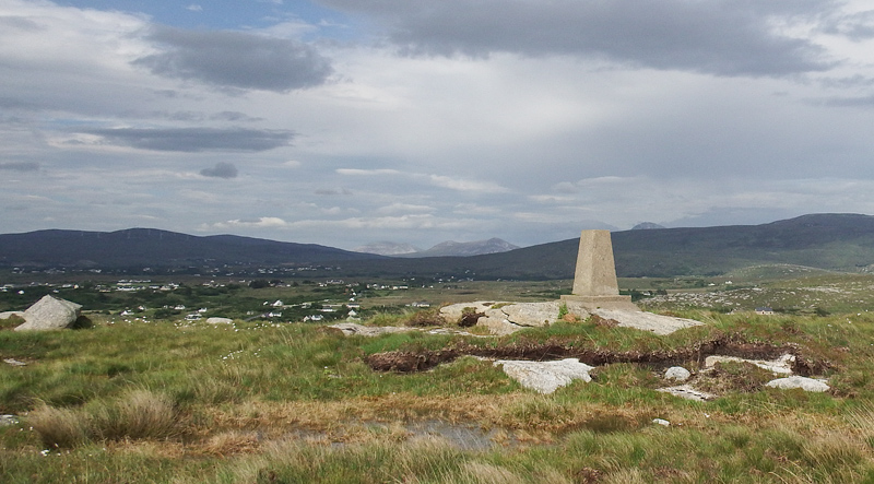 MountainViews.ie Picture about mountain Cnoc Anagaire in area Donegal Coastal Hill, Ireland