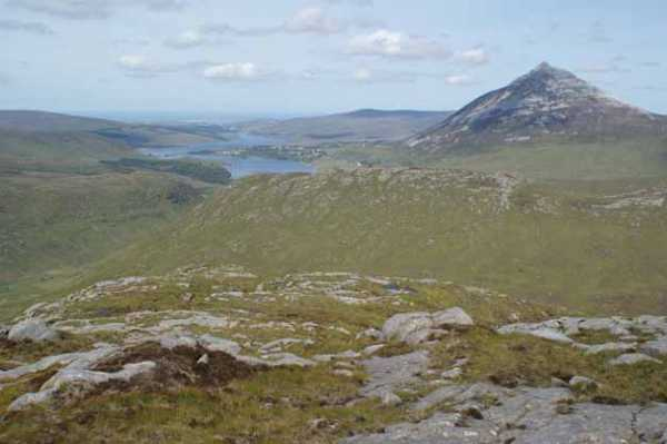 MountainViews.ie Picture about mountain Cnoc Bhealach Gaoithe in area Donegal NW, Ireland