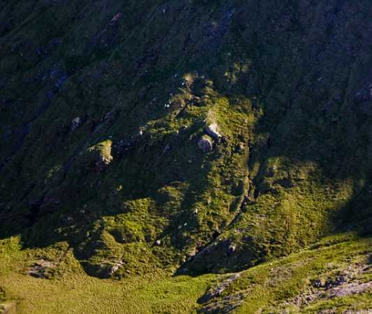 MountainViews.ie Picture about mountain Ben Lugmore East Top in area Mweelrea Mountains, Ireland