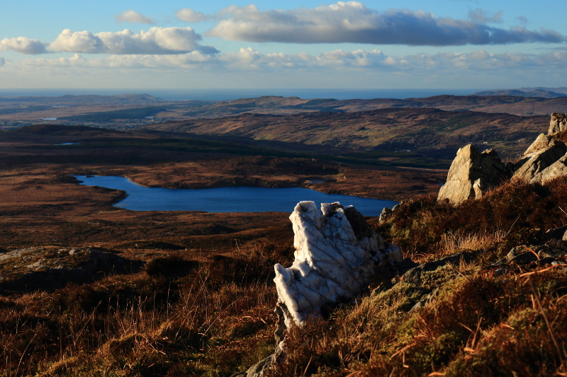 MountainViews.ie Picture about mountain Cullaghacro in area Bluestack Mountains, Ireland