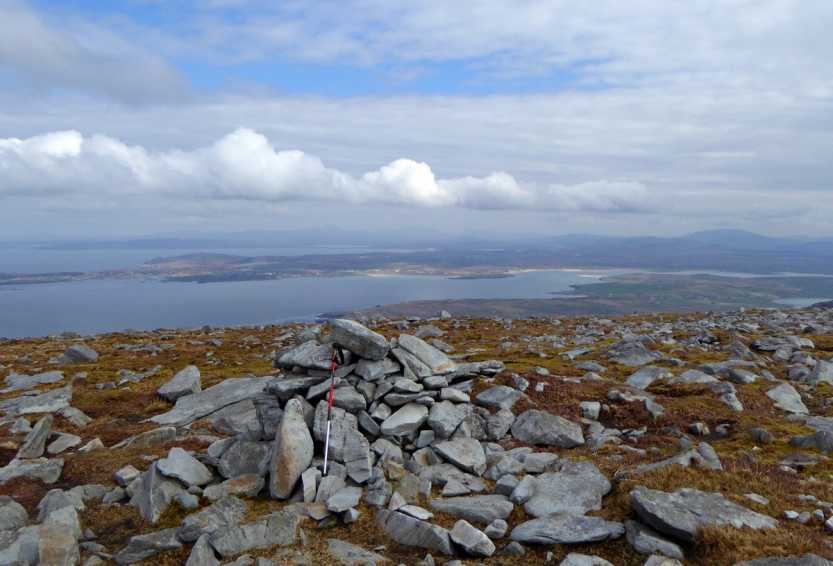 MountainViews.ie Picture about mountain Sliabh Tuaidh W Top in area Donegal SW, Ireland