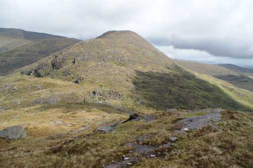 MountainViews.ie Picture about mountain Knocknagapple in area Glenbeigh Horseshoe, Ireland