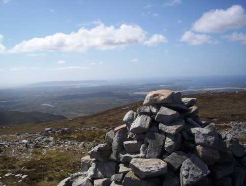 MountainViews.ie Picture about mountain An Grogán Mór in area Donegal NW, Ireland