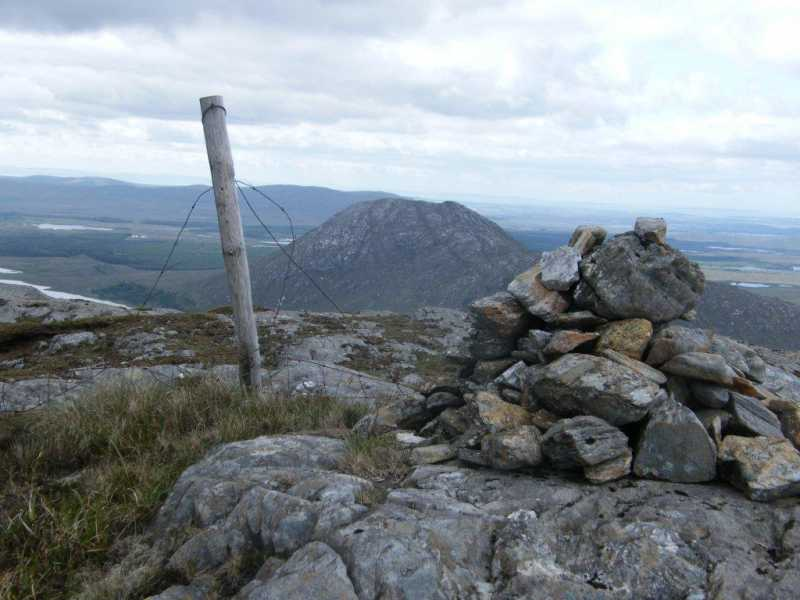 MountainViews.ie Picture about mountain Knocknagussy in area Partry/Joyce Country, Ireland