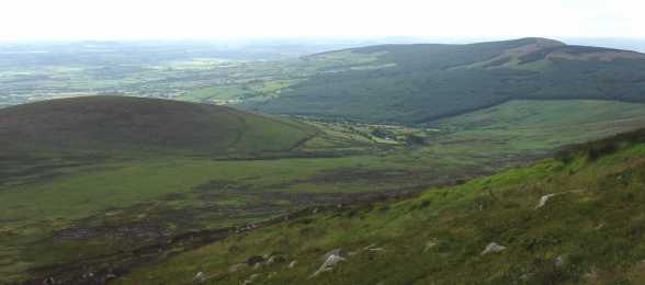 MountainViews.ie Picture about mountain Slievebaun in area Blackstairs Mountains, Ireland