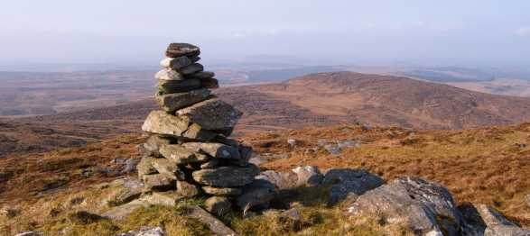 MountainViews.ie Picture about mountain Cruach na Míol in area S Donegal/W Tyrone, Ireland