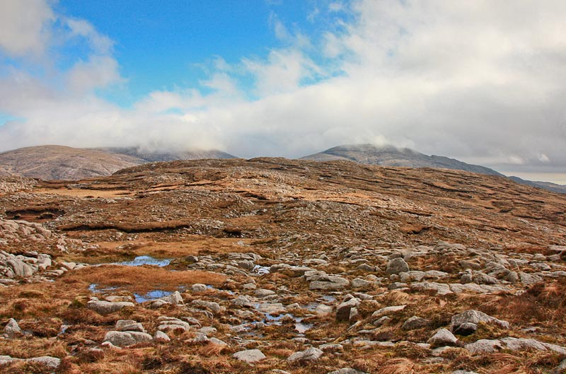 MountainViews.ie Picture about mountain Meenanea (<i>Mín an Fhia</i>) in area Bluestack Mountains, Ireland