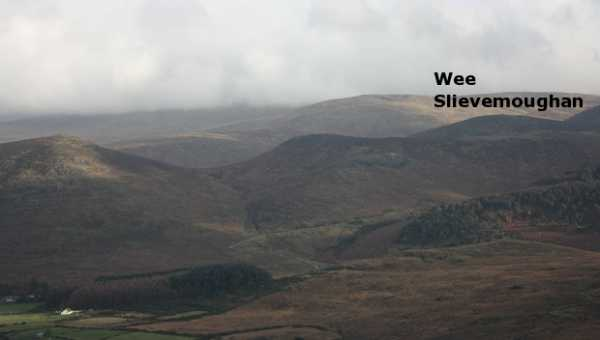 MountainViews.ie Picture about mountain Wee Slievemoughan in area Mourne Mountains, Ireland