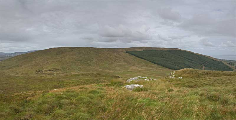 MountainViews.ie Picture about mountain Eskaheen Mountain (<i>Sliabh Uisce Chaoin</i>) in area Inishowen, Ireland