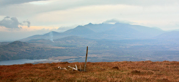 MountainViews.ie Picture about mountain Coolroe in area Glenbeigh Horseshoe, Ireland