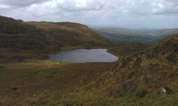 MountainViews.ie Picture about mountain Croaghugagh in area Bluestack Mountains, Ireland