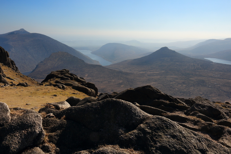 MountainViews.ie Picture about mountain Slieve Bearnagh (<i>Sliabh Bearnach</i>) in area Mourne Mountains, Ireland