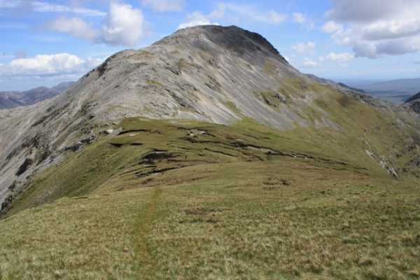 MountainViews.ie Picture about mountain Binn Bhán in area Twelve Bens, Ireland