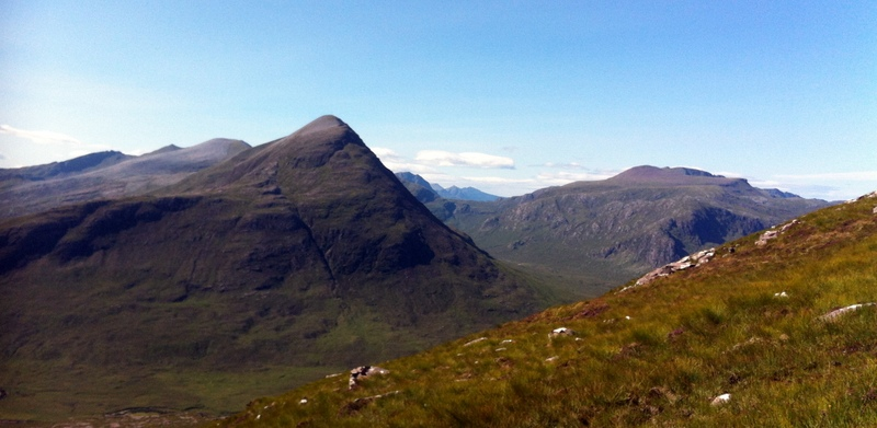 MountainViews.ie Picture about mountain Sail Liath in area Loch Maree to Loch Broom, Ireland