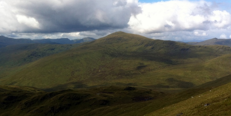 MountainViews.ie Picture about mountain Meall Ghaordaidh in area Glen Lyon to Glen Dochart and Loch Tay, Ireland