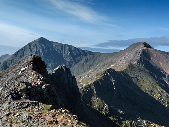 MountainViews.ie Picture about mountain Crib Goch in area Snowdonia, Ireland