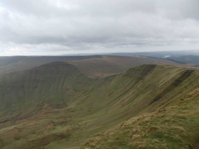MountainViews.ie Picture about mountain Cribyn  in area Llandovery to Monmouth, Ireland