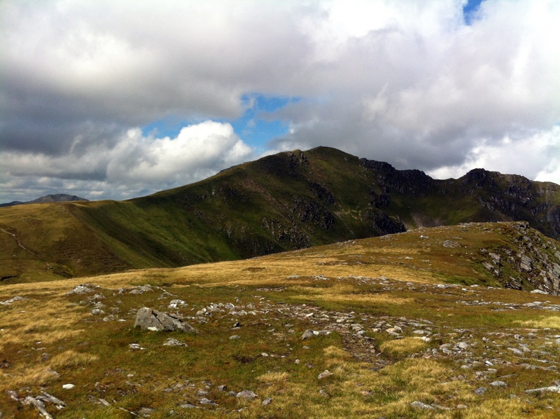 MountainViews.ie Picture about mountain Aonach air Chrith in area Glen Shiel to Loch Hourn and Loch Quoich, Ireland