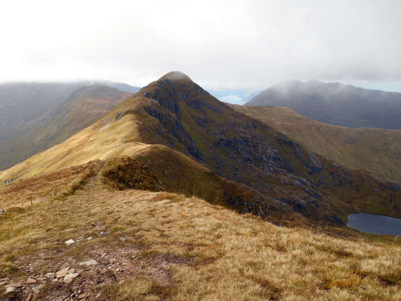 MountainViews.ie Picture about mountain Sgurr an Lochain in area Glen Shiel to Loch Hourn and Loch Quoich, Ireland