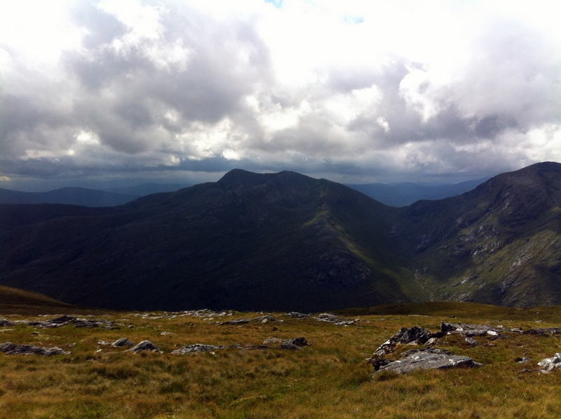MountainViews.ie Picture about mountain Spidean Mialach in area Glen Shiel to Loch Hourn and Loch Quoich, Ireland