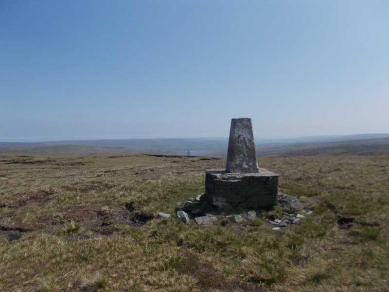 MountainViews.ie Picture about mountain Burnhope Seat - Trig Point  in area The Northern Pennines, Ireland