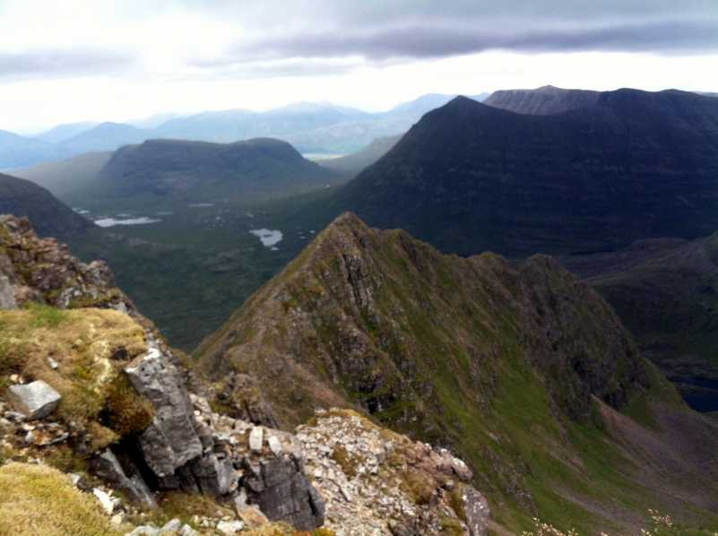 MountainViews.ie Picture about mountain Northern Pinnacles [Meall Dearg] in area Loch Torridon to Loch Maree, Ireland