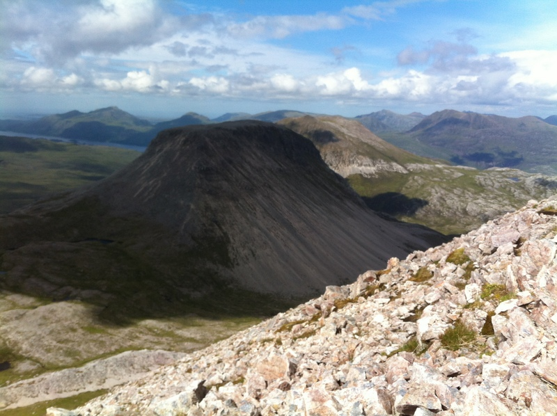 MountainViews.ie Picture about mountain Ruadh-stac Beag  in area Loch Torridon to Loch Maree, Ireland