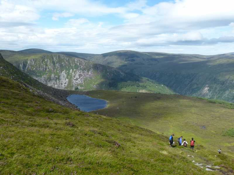 MountainViews.ie Picture about mountain Lugnaquilla in area Dublin/Wicklow, Ireland