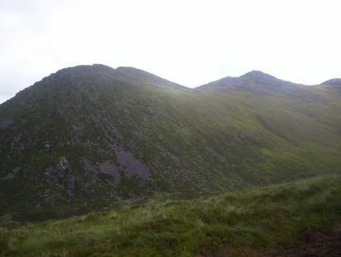 MountainViews.ie Picture about mountain Stumpa Bharr na hAbhann in area MacGillycuddy