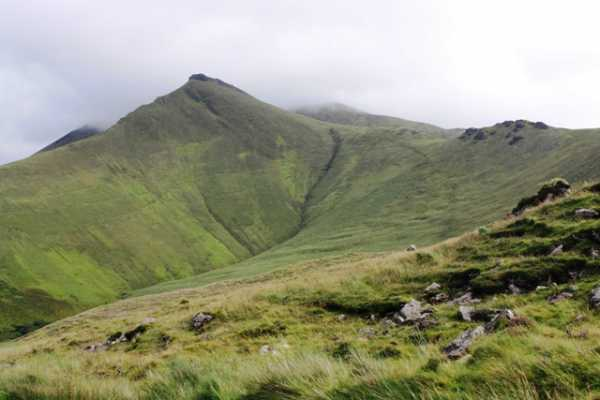 MountainViews.ie Picture about mountain Caherconree (<i>Cathair Conraoi</i>) in area Slieve Mish, Ireland