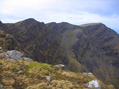 MountainViews.ie Picture about mountain Ben Lugmore in area Mweelrea Mountains, Ireland