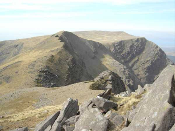 MountainViews.ie Picture about mountain Ben Lugmore West Top in area Mweelrea Mountains, Ireland